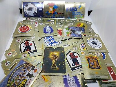 2018 FiFA WORLD CUP PANINI FOIL Stickers - EMBLEMS AND LEGENDS - FREE SHIPPING