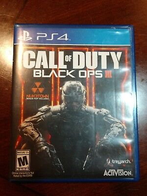 Call of Duty Black Ops III SONY PlayStation 42015 PS4 COD CODIII BO BO3