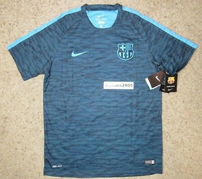 NWT Nike FC BARCELONA Flash Training Top Sz L 100 Authentic FCB 715672 013