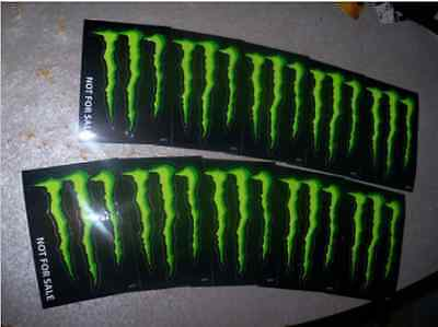 Monster Energy Drink DECAL STICKER 4 x 3 inches Lot of 10