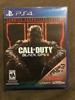 Brand New Call Of Duty Black Ops III PS4 Zombies Chronicles Edition Sealed