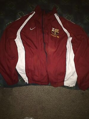 FC BARCELONA NIKE JACKET ZIP UP ADULT MEDIUM Can be flipped inside out