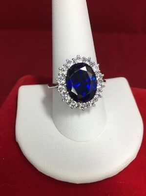 QVC PRINCESS DIANA  Kate Middleton RING Sterling Silver Size 10