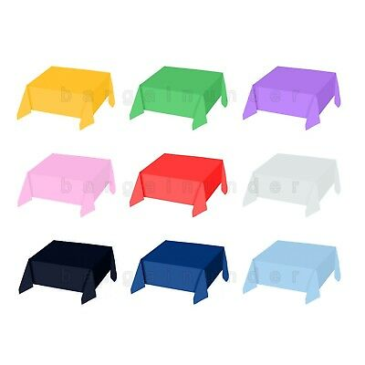 54 x 108 Plastic Table Cover Birthday Wedding Party Supplies Buy 2 Get 1 Free