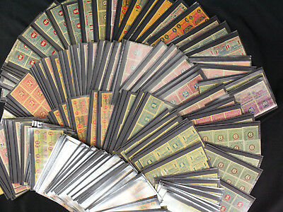 Huge Lot of 490 Ohio State Sales Tax Revenue Stamps Many Different Issues