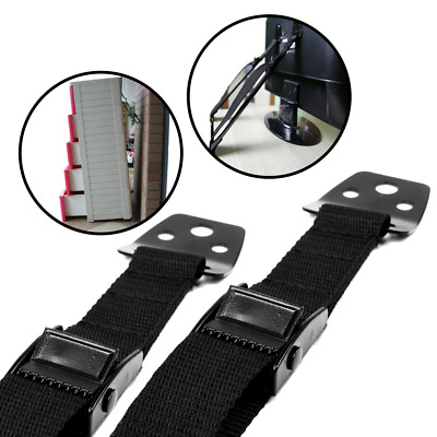2-Pack All Metal Anti Tip Furniture - TV Straps for Baby-Proofing - Child Safety