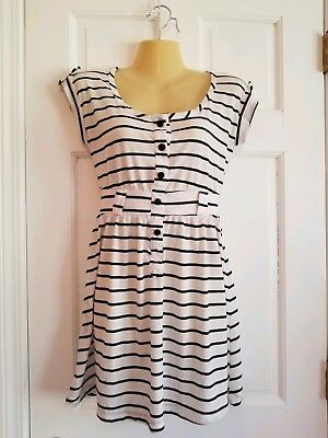 Wet Seal Womens US Small Black And White Striped Top