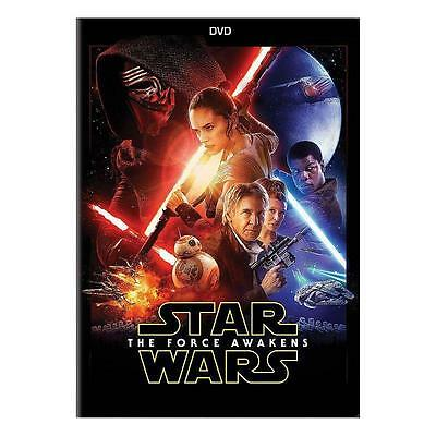 Star Wars Episode VII The Force Awakens DVD 2016 new sealed free shipping