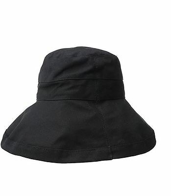 Scala Womens Cotton Big Brim Hat with Inner Drawstring and Upf 50- Rating