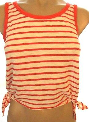 New Wet Seal XS thin knit tie side striped crop top shirt