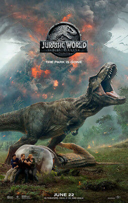 JURASSIC WORLD FALLEN KINGDOM MOVIE POSTER 2 Sided ORIGINAL June 22 Ver C 27x40