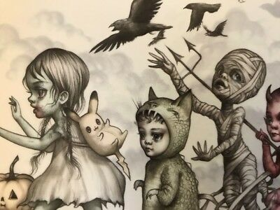 Awesome Mab Graves 7 x 24 Monster Parade Poster Print with Bonus Postcard