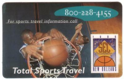 10 Min- SEC Tournament 1996 Total Sports Travel Basketball Phone Card