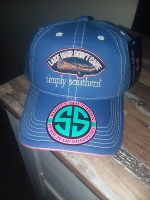 NWT Simply Southern Adjustable Baseball Cap Hat One Size Lake Hair Dont Care