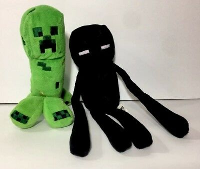 Minecraft Plush Toys - Creeper and Enderman Set of 2