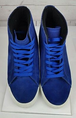 Supra Suede Athletic High Top Casual Comfort Mens Walking  Shoes Blue Size 11