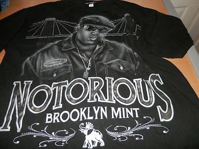 Notorious BIG Biggie Smalls Brooklyn Mint T Shirt Glitter Graphics Size 3XL