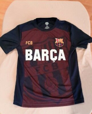 FC Barcelona Barca Youth Size Medium Soccer Jersey