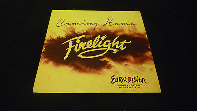 Firelight - Coming Home Eurovision promo rare Malta 2014 2018 single
