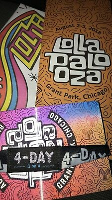 Lollapalooza 2018 General Admission 4 Day Pass