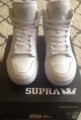 Supra shoes men's size 8-5 SUPRA VAIDER White High Top Shoes 89-99