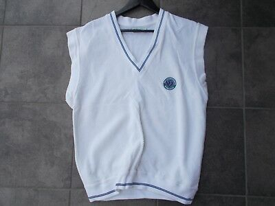 OFFICIAL WIMBLEDON vintage sleeveless sweater -mint condition-1980s Large