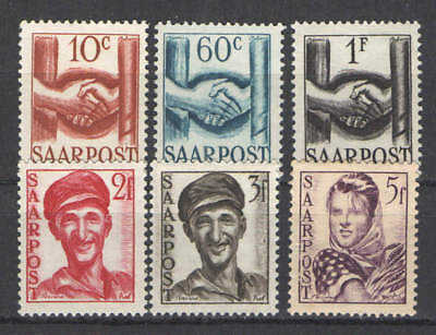 Germany - Saar 1948 lot MNHMLH FVF  Solid lot of various issues