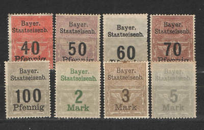 Germany - Bavarian State Railway revenues lot - MHHRMNG - Various issues