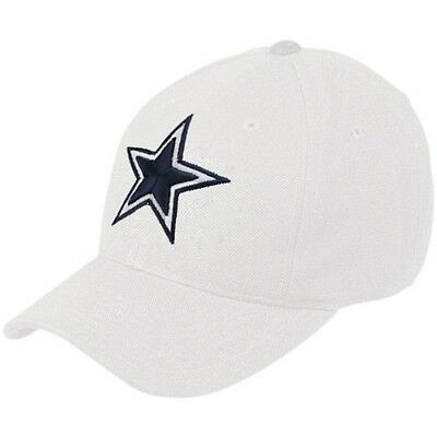 Dallas Cowboys NFL White Basic Wool Crew Adjustable Hat Cap