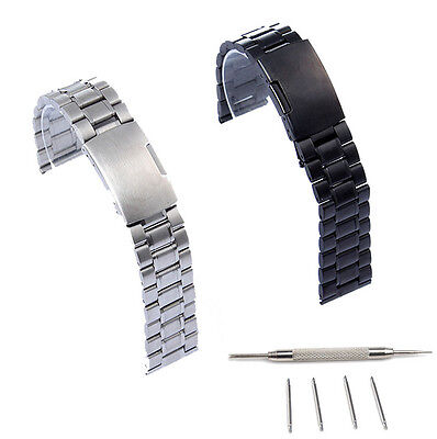 Stainless Steel Watch Band Strap Solid Link Fr Samsung Galaxy Watch SM-R800 46MM