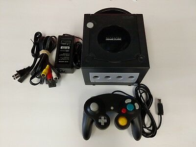 Nintendo GameCube Console Jet Black Console System Tested Fast Free Shipping