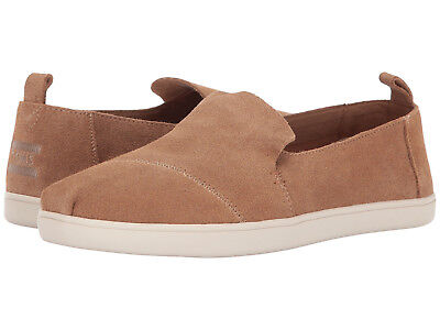 Toms DECONSTRUCTED ALPARGATA Womens Toffee Suede 10010886 Slip On Flats Shoes