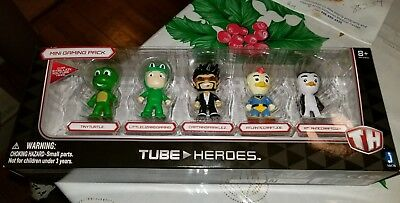 Minecraft Tube Heroes Mini Gaming Pack Set of 5 1-75 Figures Toy Jazwares TH