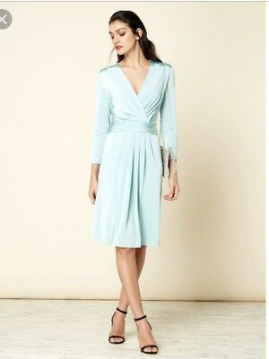 ISSA Darcy pleat detail dress Mint size 8 Kate Middleton House of Fraser BNWT