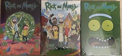 Rick and Morty Seasons 1 2 - 3 DVD Combo Free Shipping