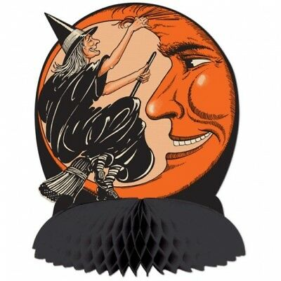 Vintage Halloween Witch - Moon Centerpiece 10 Paper Halloween Party Decorations