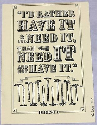 Jimmy Diresta - Letterpress Poster ID RATHER HAVE IT