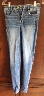 American Eagle Outfitters Womens Super Stretch Jeans Jeggings Blue SIZE 2 R