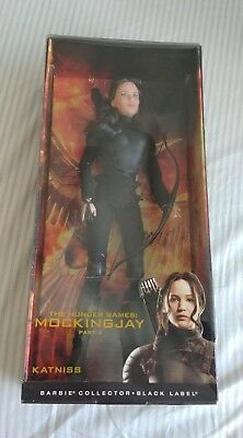 Mattel Barbie Collector Black Label Mockingjay Part 2 Katniss Doll Damaged Box