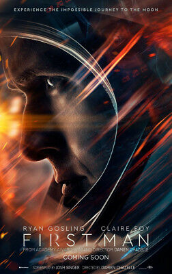 FIRST MAN MOVIE POSTER 2 Sided ORIGINAL Advance 27x40 RYAN GOSLING CLAIRE FOY