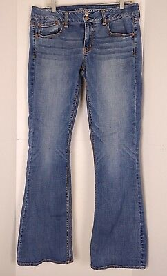 American Eagle Outfitters Size 12 Long Artist Flare Medium Wash Jeans A05-31