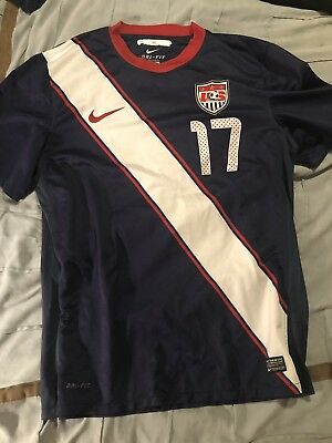 Nike Jozy Altidore USA Soccer 2010 Away Jersey Adult L Navy World Cup Dri-Fit