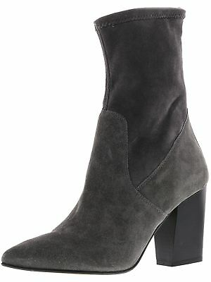 Steve Madden Womens Jarret Suede Mid-Calf Leather Boot