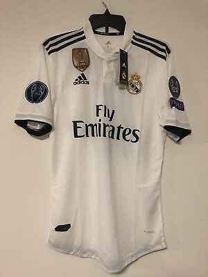 Adidas New Modric Real Madrid 201819 Player Version Home Jersey With Tags