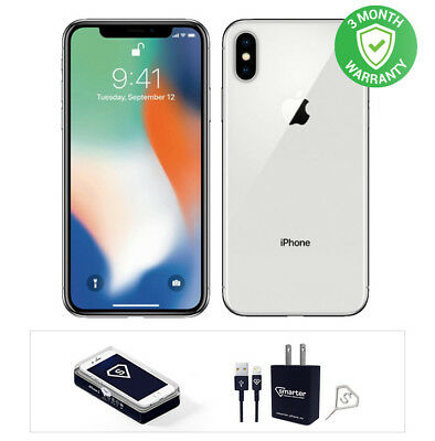 Apple iPhone X - 64GB - Space Gray or Silver Factory Unlocked A1865 CDMA - GSM
