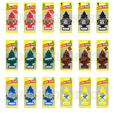 Little Trees Car Home Office Hanging Air Freshener Pick Your Scent 3 PC Per Pack