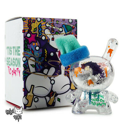 2018 Fiesta 3 Holiday Dunny Art Figure By Jec x Kidrobot - Brand New Sealed
