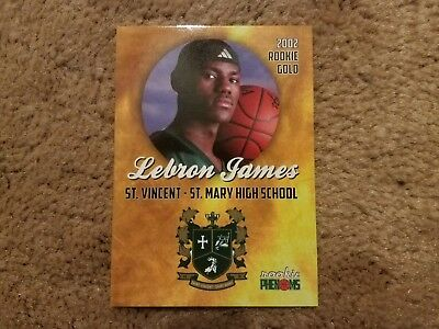 Rare Lebron James 2002 Rookie Phenoms Gold High School Rookie RC Card -weet-
