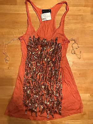 Wet Seal glitter Tank Top Size Small