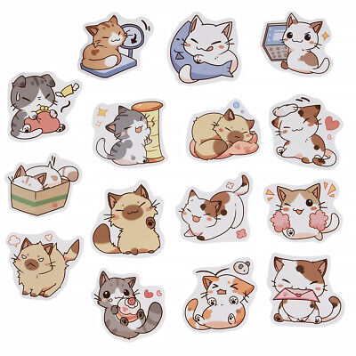 45PcsLot Cute Cat Stickers DIY Japanese Kawaii Sticker sheet Crafts Stickers